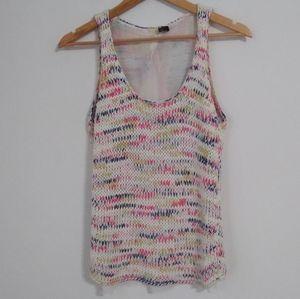 🦃3/$20 Bershka Colorful Cable Knit Sheer Back Top